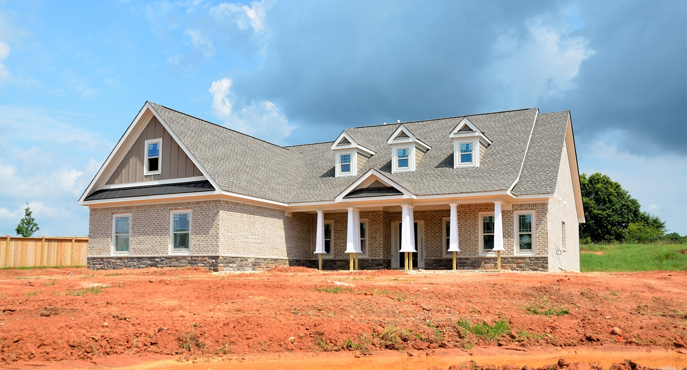 New construction home almost complete