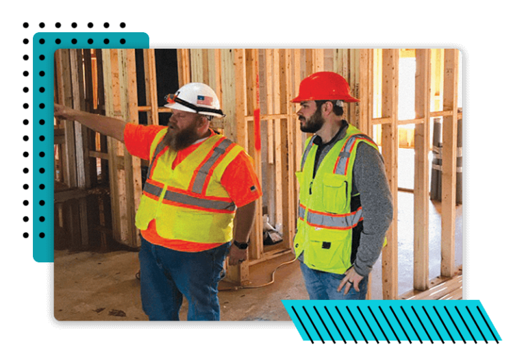 Grant, a multifamily building performance technician from southern energy management, on site during a performance inspection with a site super