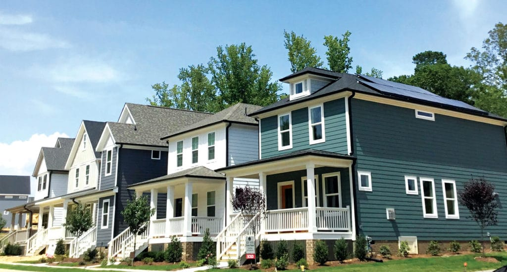 Garman Home in Briar Chapel with rooftop solar system