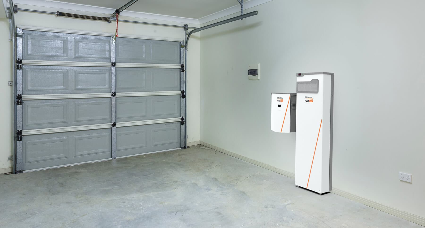 Generac PWRcell battery in a finished garage
