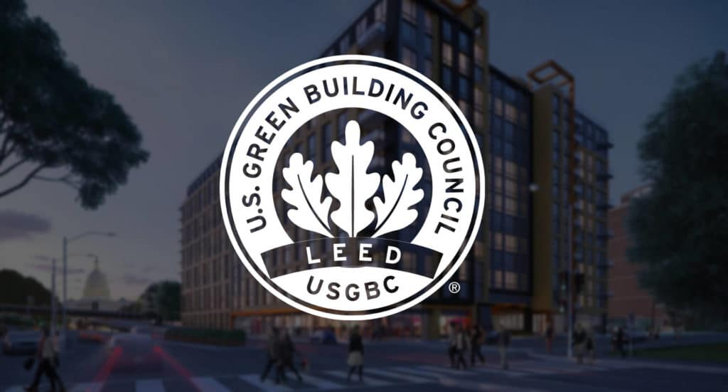 Rendering of Novel South Capitol Hill multifamily project pursuing LEED certification