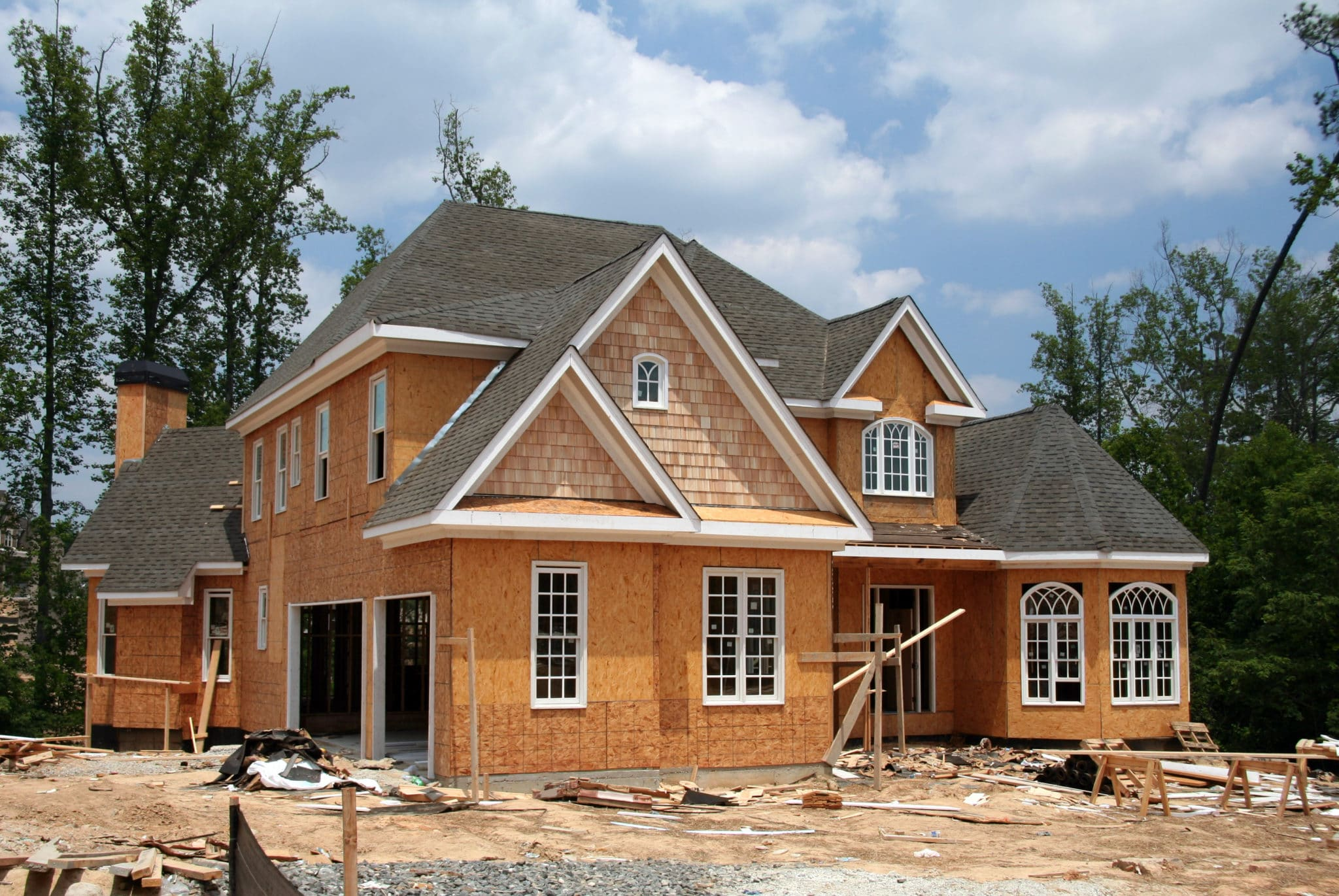 Single Family Home Under Construction