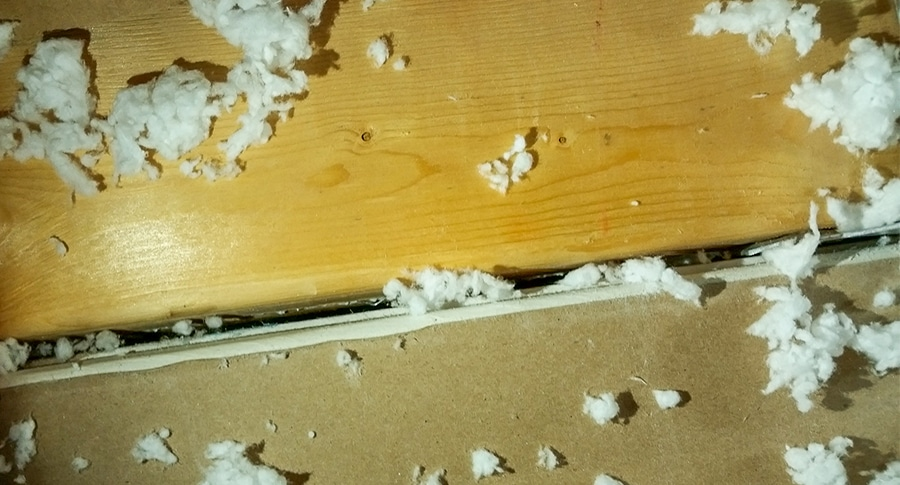 Unsealed drywall observed during failed final inspections.