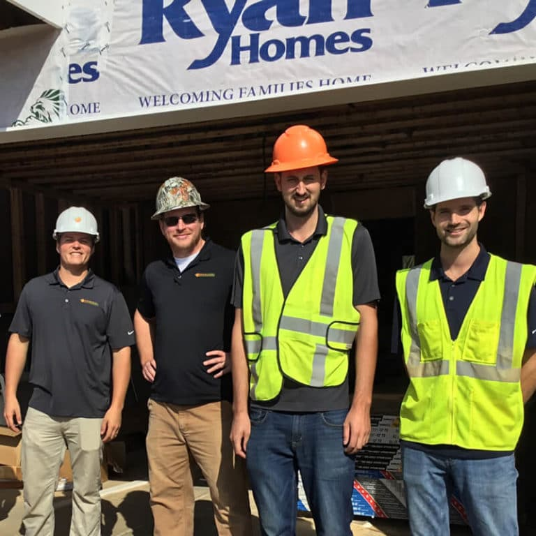Building performance technicians from Southern Energy Management at a construction site