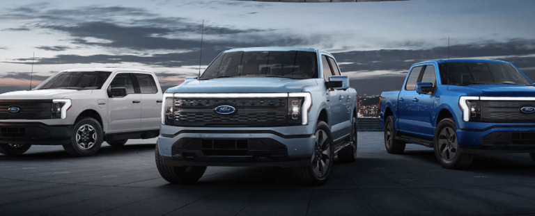 Rendering concept of ford f-150 lightning electric vehicle