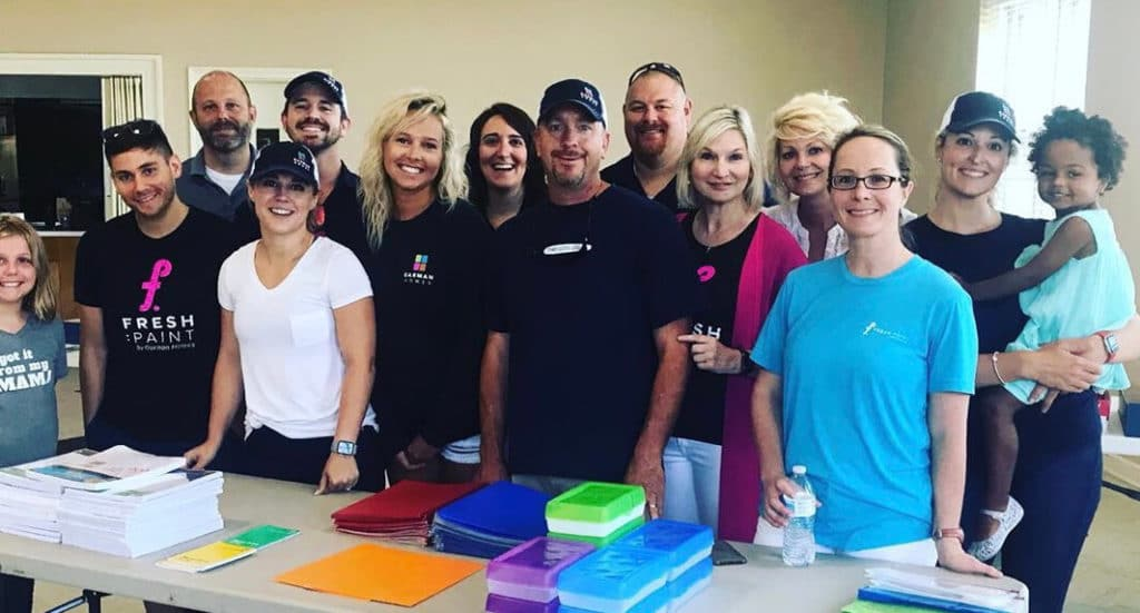 The Garman Homes team giving back to the community