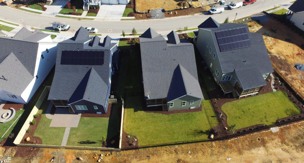 Two new homes with solar systems installed