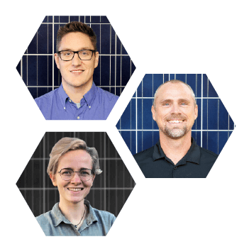 Mike, Dave, and Sophie, solar educators at southern energy management