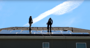 Southern Energy Management solar team installing panels on a roof