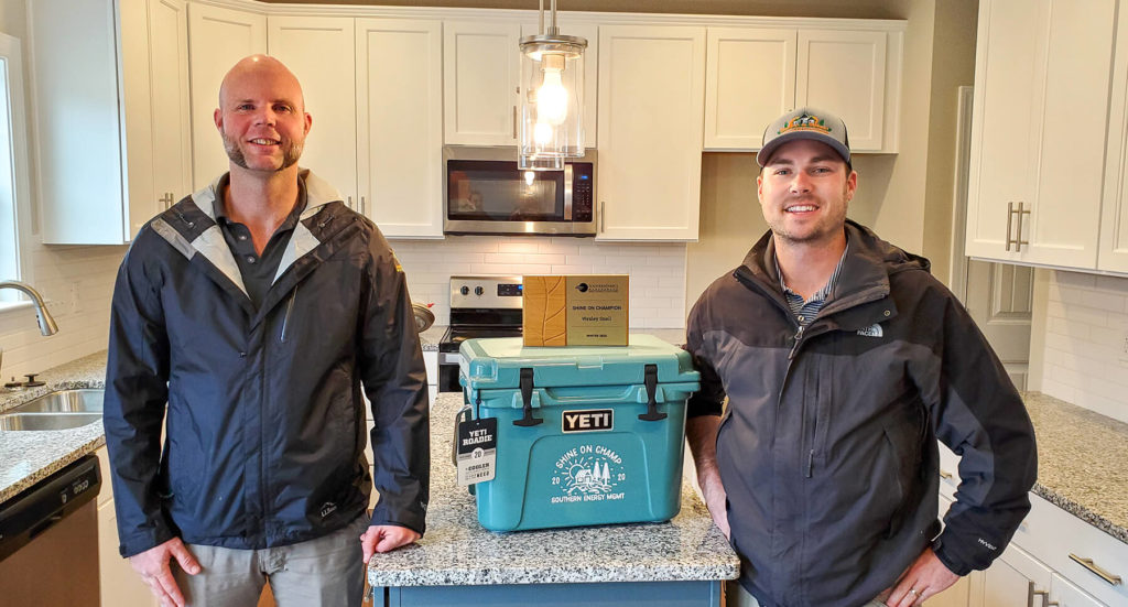 Wes Snell from Mattamy Homes, Winter Shine On Champ